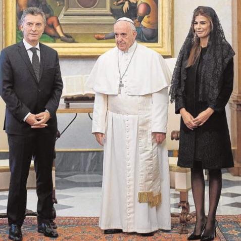 Papa y Macri