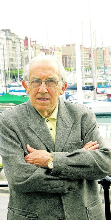 Gustavo Bueno, en Gijón. Foto: Marcos León