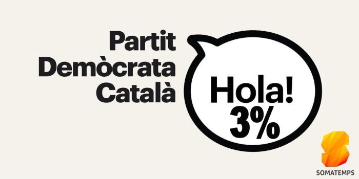 partit democrata catala 3 per cent