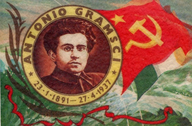 Sello conmemorativo de Antonio Gramsci, teórico comunista