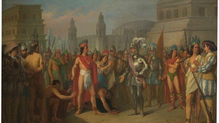 Prisión de Guatimocín, último emperador de los mejicanos, por las tropas de Hernán Cortés.  Foto: Museo Nacional del Prado